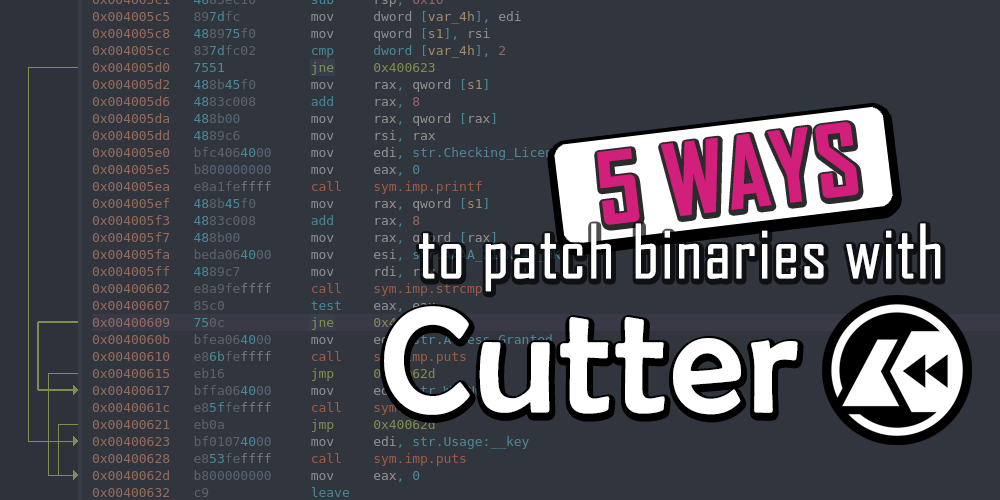5 Ways to patch binaries with Cutter