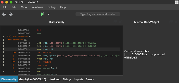 Getting started with Python Plugins — Cutter documentation